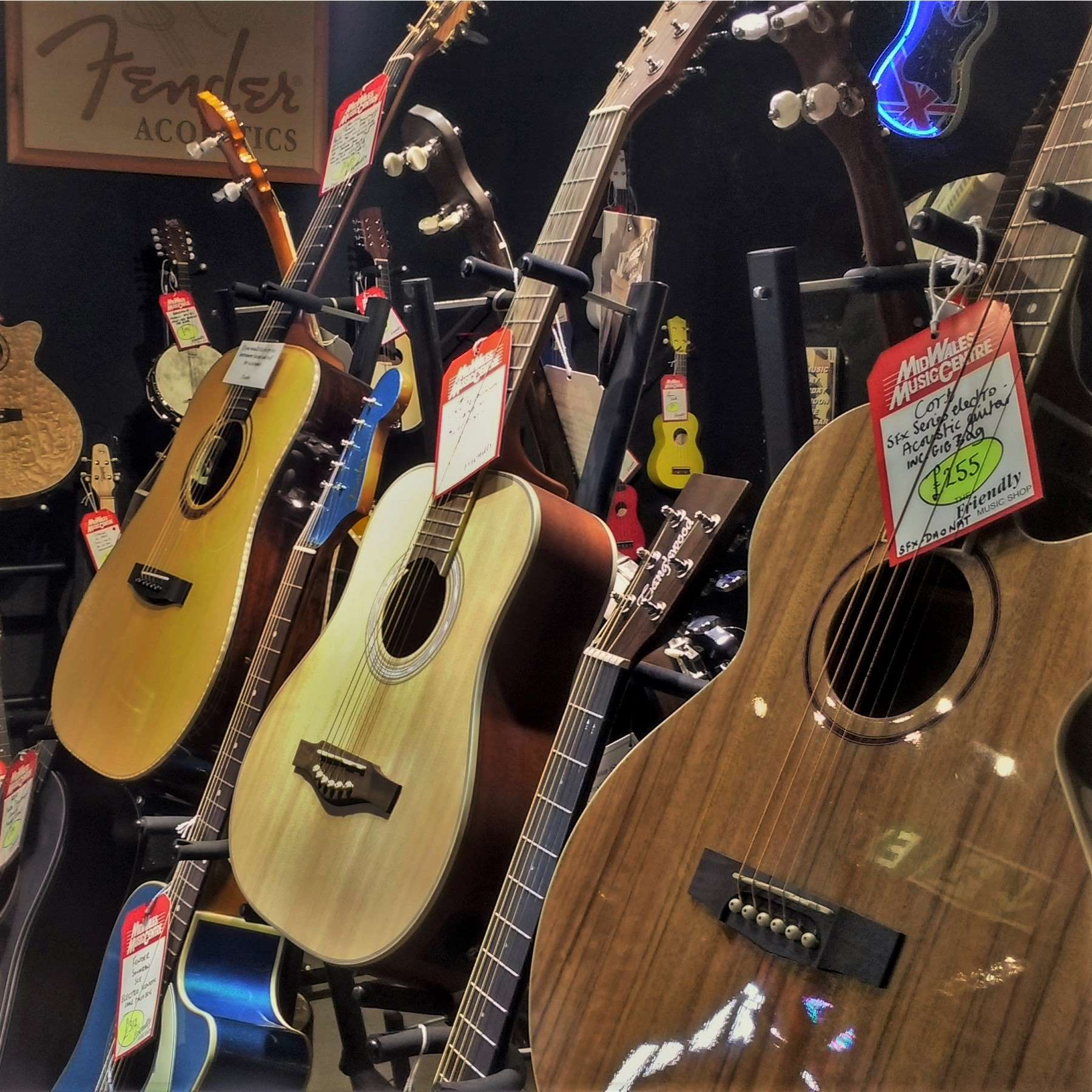 Acoustic guitar display