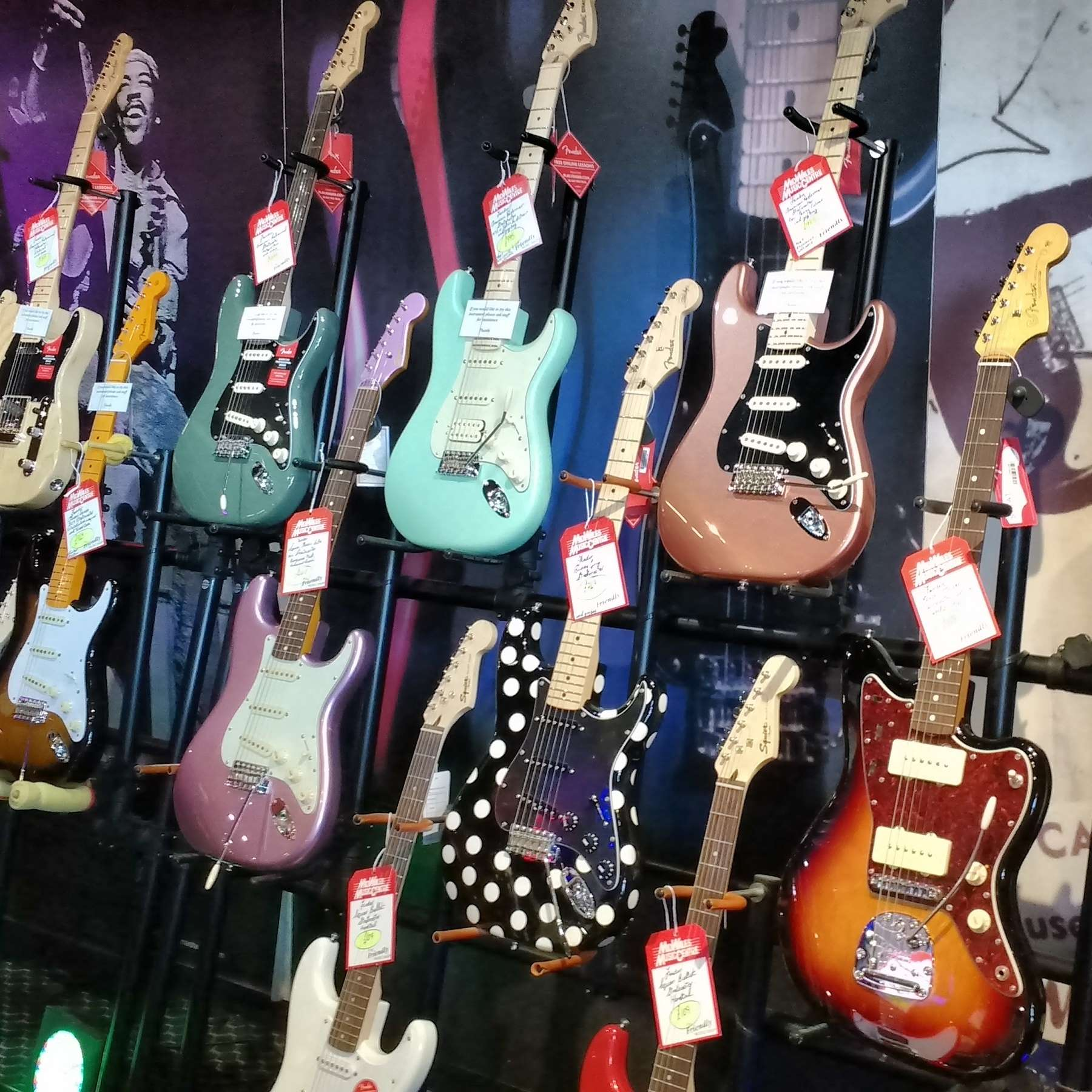 Fender guitar display